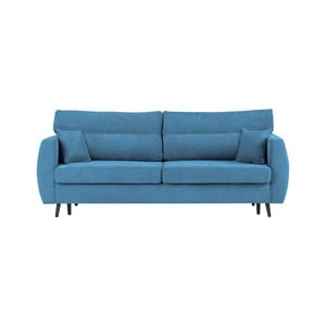 Niebieska 3-osobowa sofa rozkładana ze schowkiem Cosmopolitan design Brisbane, 231x98x95 cm