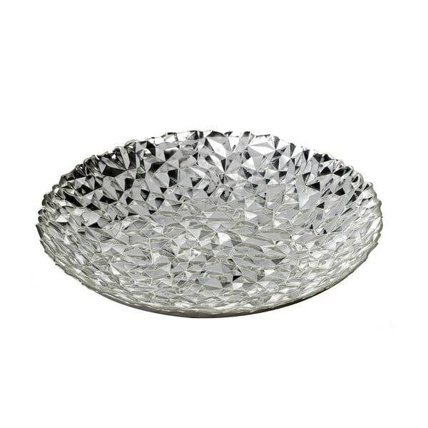 Srebrna szklana miska Parlane Theta, Ø40 cm