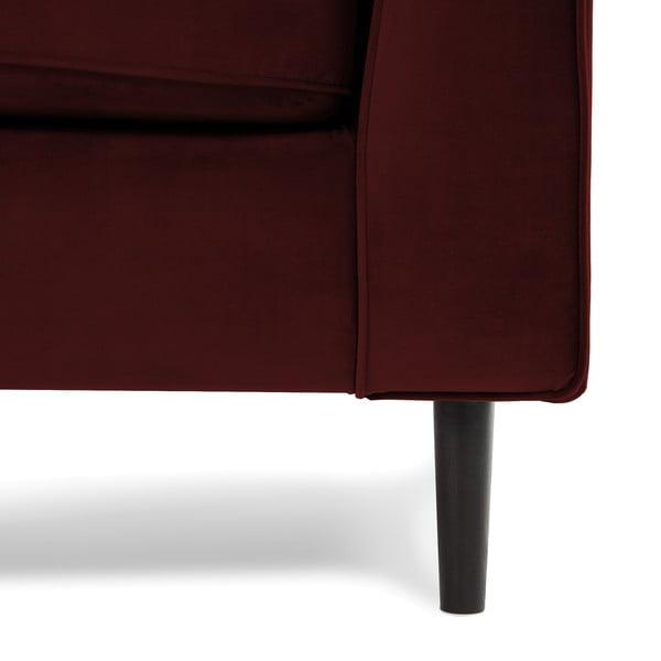 Ciemnoczerwona sofa trzyosobowa VIVONITA Portobello