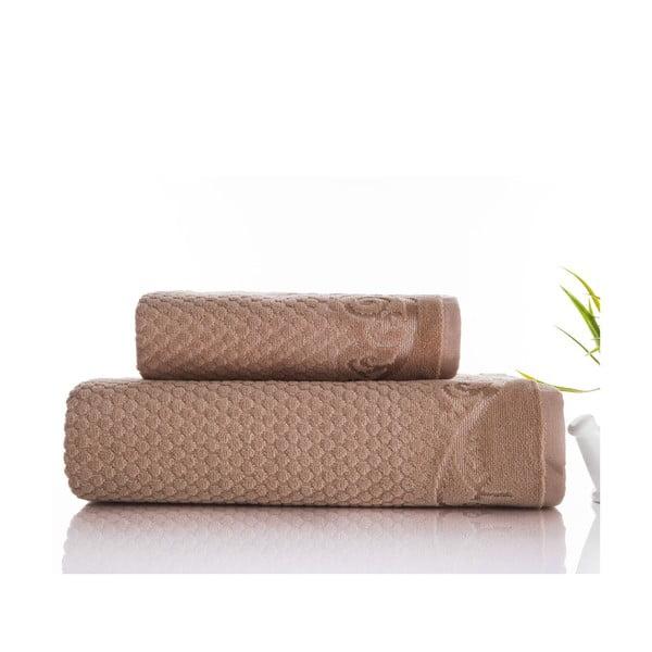 Zestaw 2 ręczników Acustic Mink, 50x90 cm i 70x140 cm