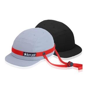 Kask rowerowy Krust grey/red/black z zapasową czapką, rozmiar S