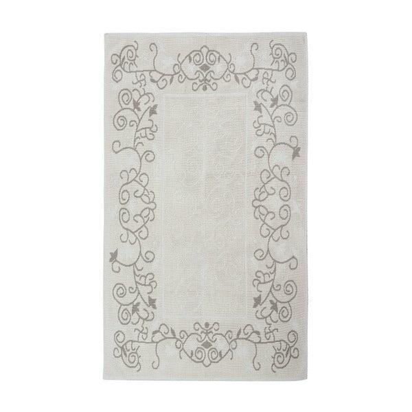 Kremowy dywan bawełniany Floorist Floral, 80x300cm