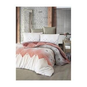 Pościel dwuosobowa z prześcieradłem i poszewką na poduszkę Adriana Terra, 160x220 cm