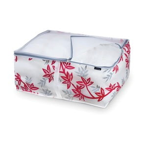 Czerwono-biały pojemnik na kołdrę Domopak Living, 25x55cm