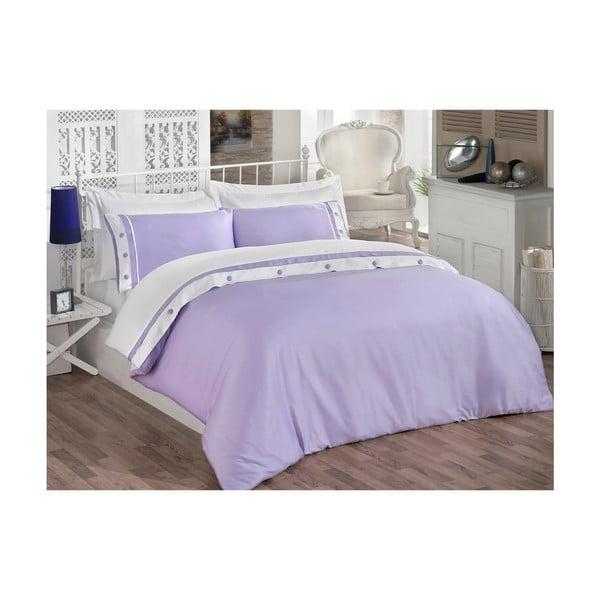 Komplet pościeli z prześcieradłem Simple Purple, 200x220 cm
