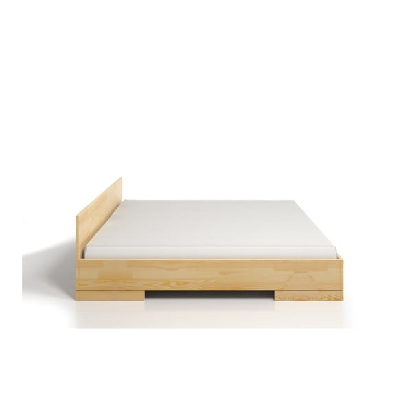 Łóżko 2-osobowe z drewna sosnowego ze schowkiem SKANDICA Spectrum, 140x200 cm