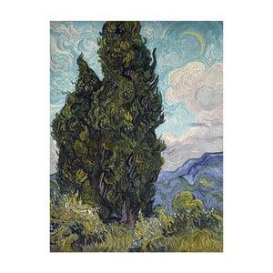 Obraz Vincenta van Gogha - Cypresses, 90x70 cm