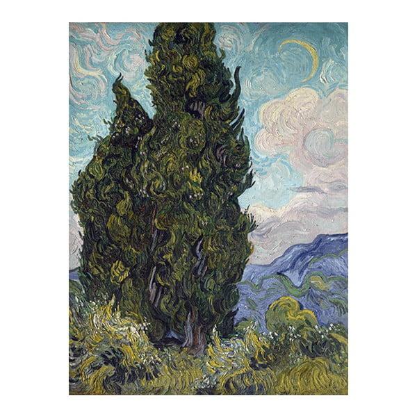Obraz Vincenta van Gogha - Cypresses, 70x55 cm