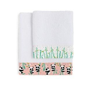 Zestaw 2 ręczników Pandi Garden, 50x100 a 70x140 cm