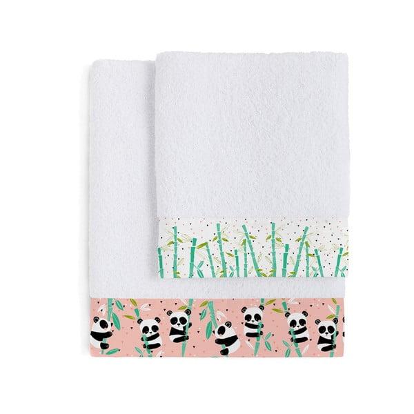 Zestaw 2 ręczników dziecięcych Moshi Moshi Pandi Garden