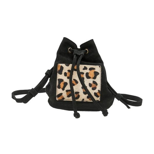 Czarny plecak zamszowy O My Bag Leopard
