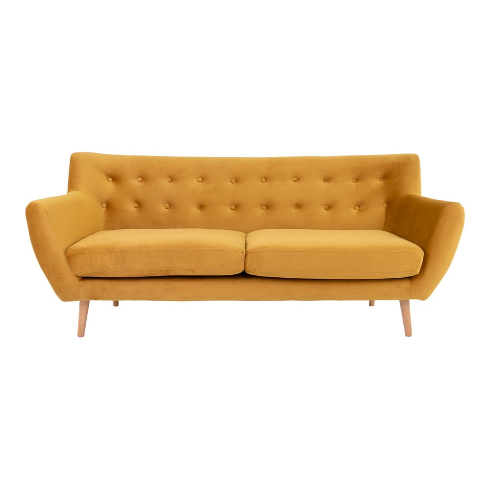 Żółta sofa House Nordic Monte