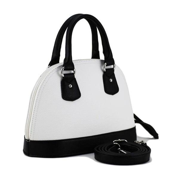 Skórzana torebka Paula Black/White