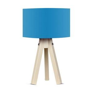 Lampa stołowa z niebieskim abażurem Kate Louise Naturel