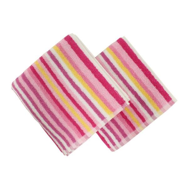 Zestaw 2 ręczników Cizgi Pink, 40x80 cm