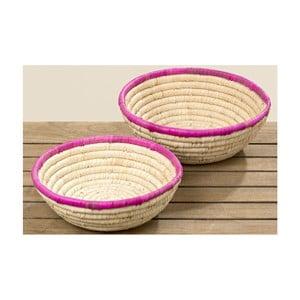 Zestaw 2 koszyków z trawy morskiej Boltze Ricarda