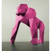 Papierowa rzeźba Goryl, różowa