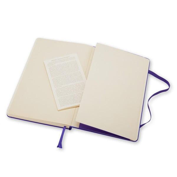Fioletowy notatnik gładki Moleskine Hard, mały