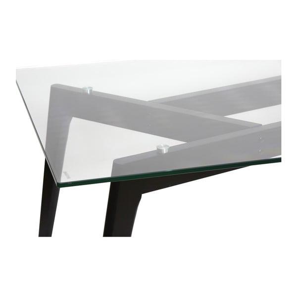 Stół do jadalni z czarnymi nogami Marckeric Janis, 160x90 cm