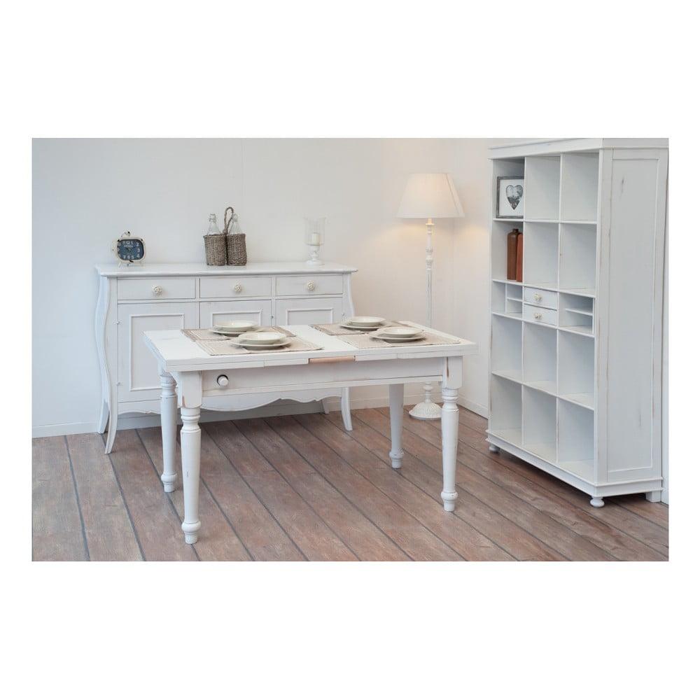 Biały Drewniany Stół Do Jadalni Z Wysuwanym Blatem Castagnetti 140