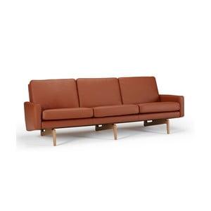 Brązowa sofa skórzana Kragelund Egsmark
