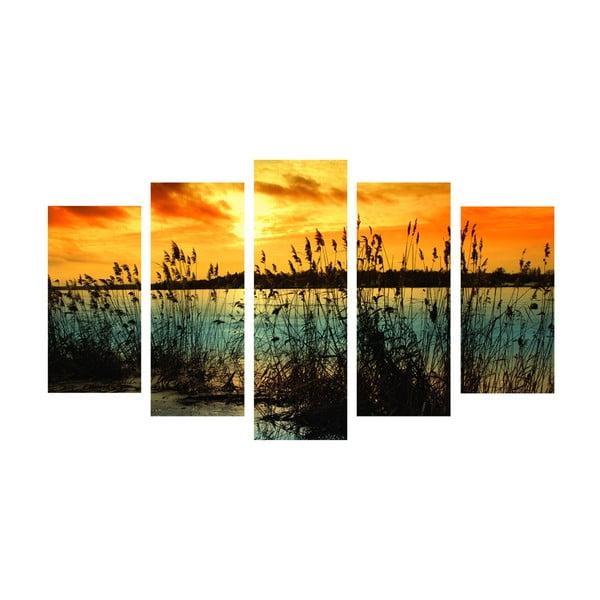 5-częściowy obraz Romantic Lake, 60x100 cm