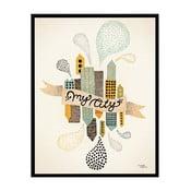Plakat My City Two, 50x70 cm