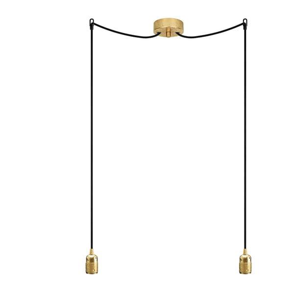 Lampa wisząca podwójna Uno, złoty/czarny/złoty