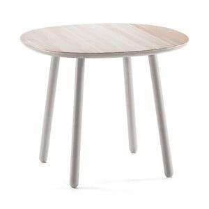 Szary stół z litego drewna EMKO Naïve, 90 cm