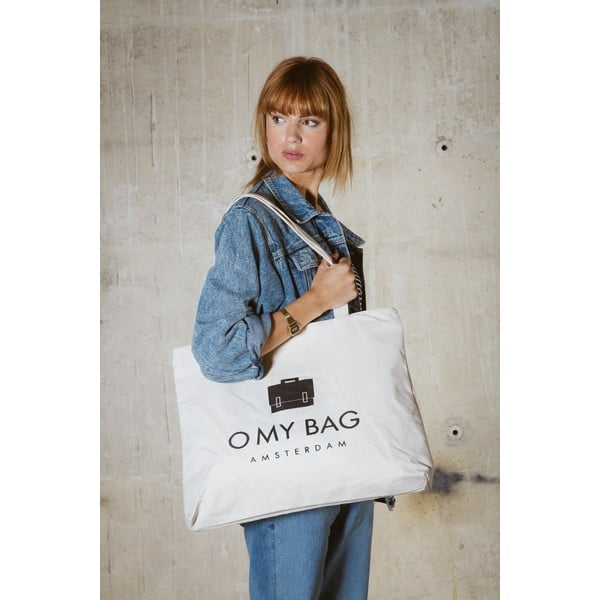 Biała płócienna torba O My Bag OMB