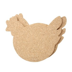 Zestaw 2 podkładek korkowych T&G Woodware Cork Chicken