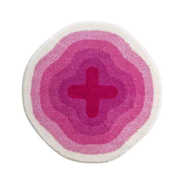 Dywanik łazienkowy Kolor My World III 90 cm, różowy
