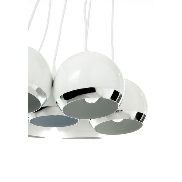 Biała lampa wisząca z 7 kloszami Tomasucii Space
