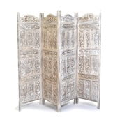 Parawan Orient 204x181 cm, biała patyna
