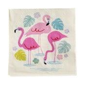 Zestaw 20 serwetek papierowych Rex London Flamingo Bay