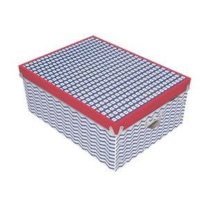 Czerwono-niebieskie pudełko Incidence Nautic Mix, 34,5x26cm