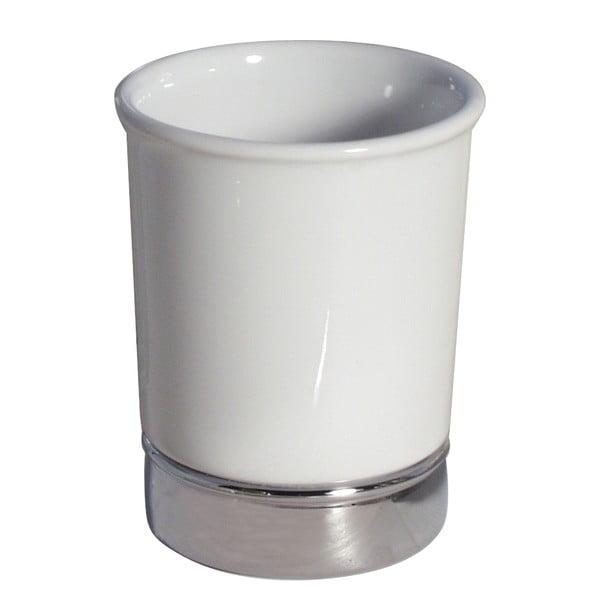 Biały kubek na szczoteczki do zębów InterDesign York