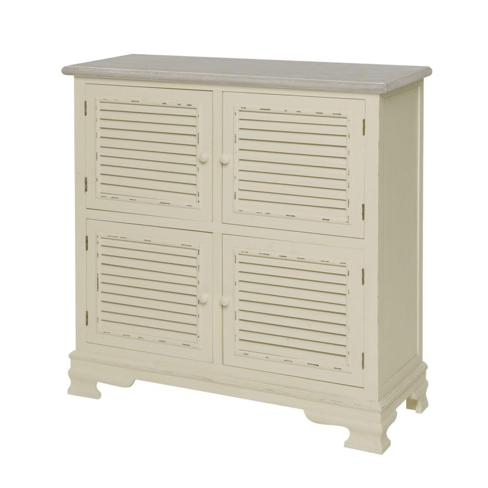 Kremowa szafka 4-drzwiowa z drewna topoli Livin Hill Pesaro