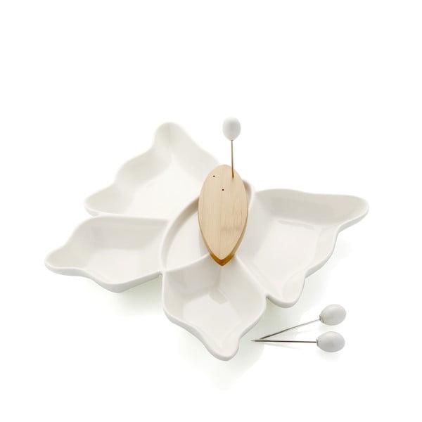 Miska do serwowania z 3 wykałaczkami Brandani Butterfly