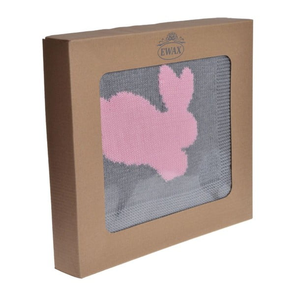 Koc dziecięcy Rabbit Pink, 80x100 cm