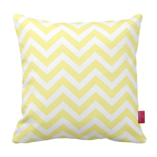 Żółto-biała  poduszka Homemania Zig Zag Yellow, 43x43cm