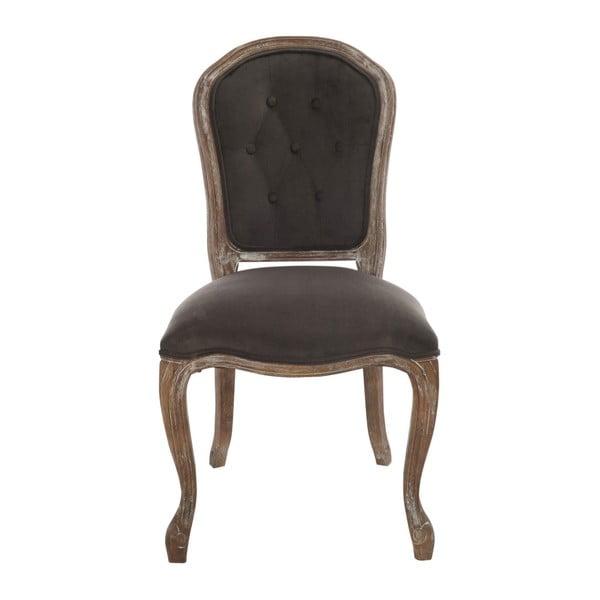 Szarobrązowe dębowe krzesło Louisa