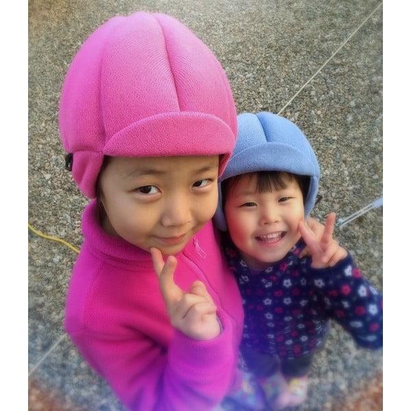 Różowa dziecięca czapka ochronna Ribcap Jackson, M