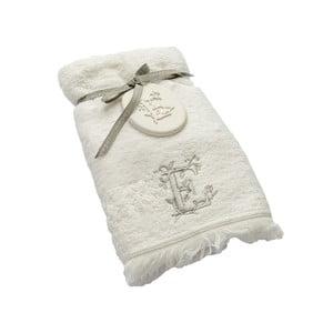 Ręcznik z inicjałem E, 50x90 cm
