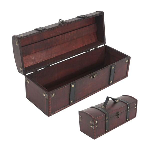 Drewniane pudełko na butelkę wina Shabby