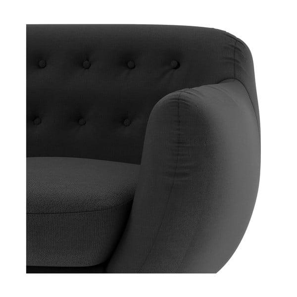 Grafitowa   sofa trzyosobowa Wintech Indigo Ornoco