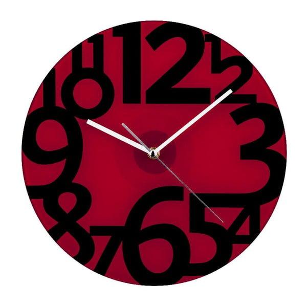 Zegar ścienny Red Glam, 31 cm