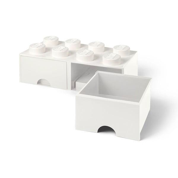 Biały pojemnik z 2 szufladami LEGO®