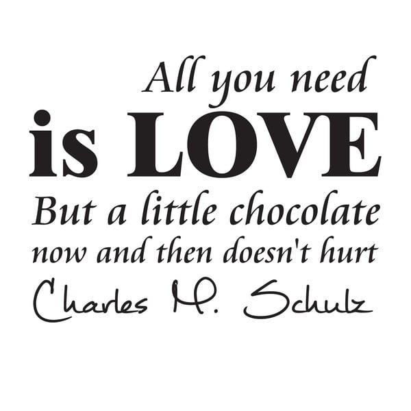 Naklejka dekoracyjna Chocolate