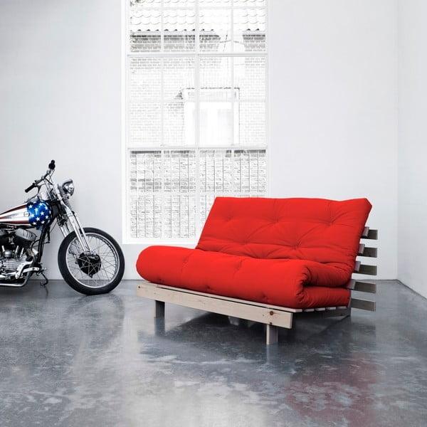 Sofa rozkładana Karup Roots Raw/Red